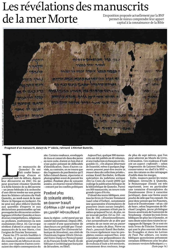 La Croix 13/04/2010 p. 13