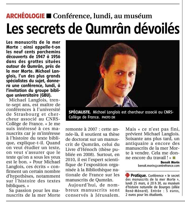 Le Berry républicain, 21 mars 2013, p. 11