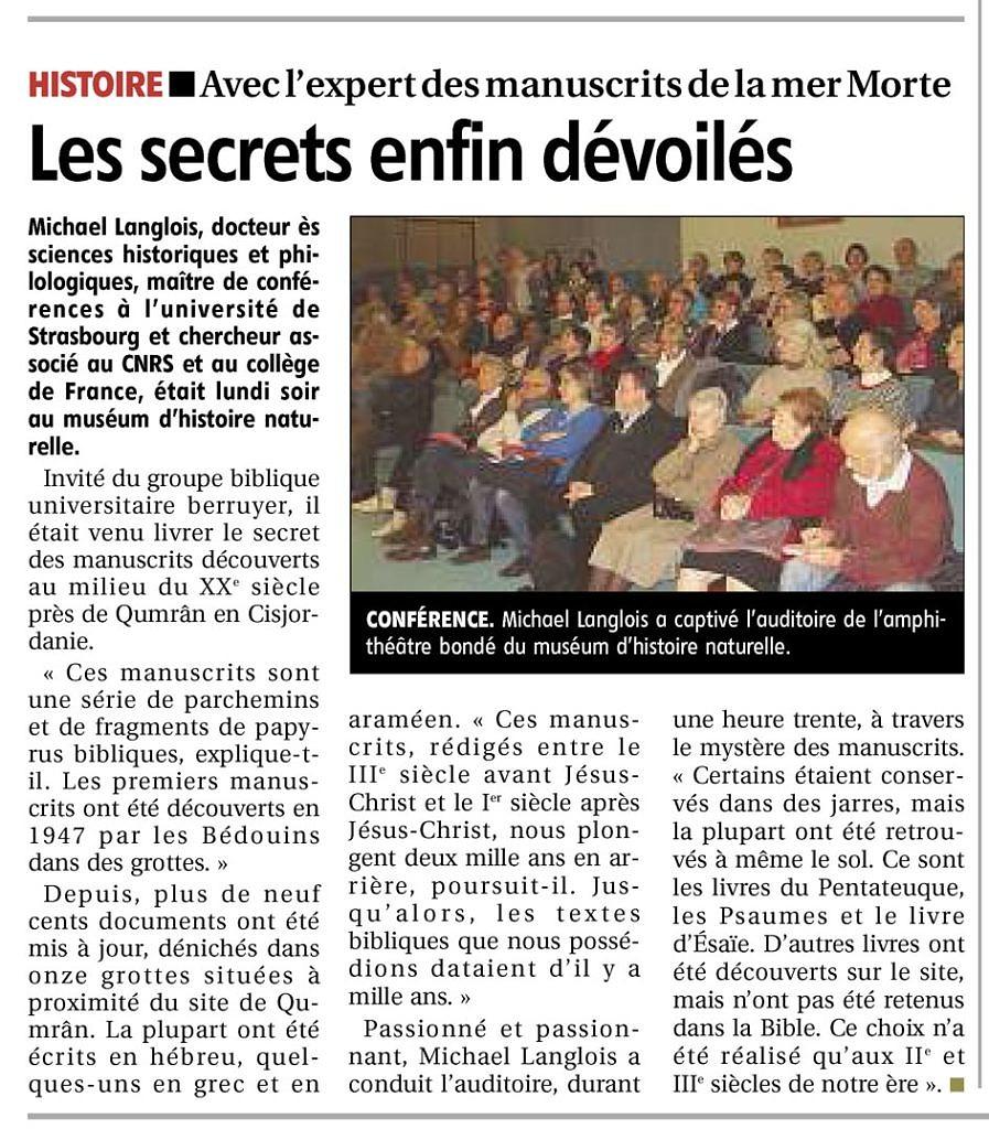 Le Berry républicain, 28 mars 2013, p. 11