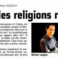 L'historien des religions revient - L'Union