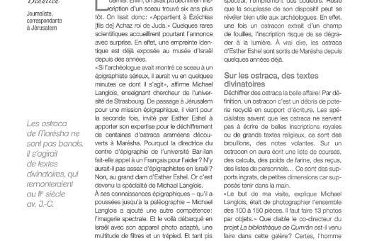 20160600 Le Monde de la Bible n° 217, juin-juillet-août 2016, p. 81