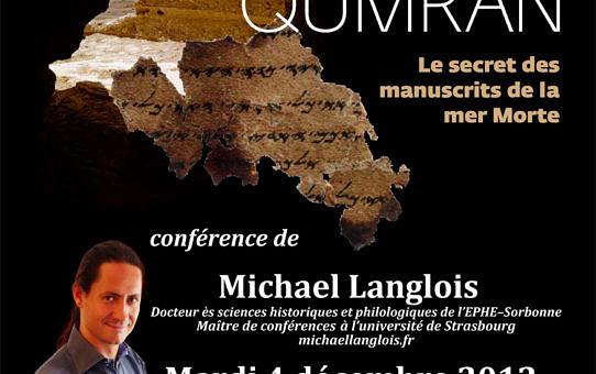 Conférence Qumrân 4 décembre 2012 St-Maur