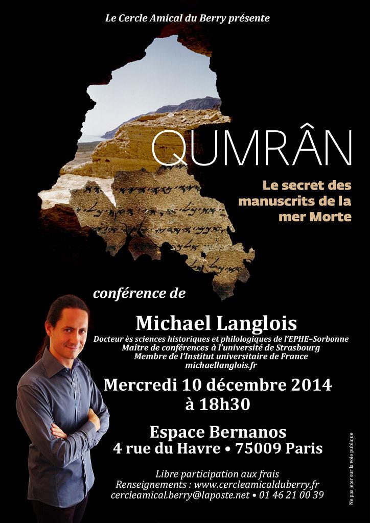 Conference Qumran 10 decembre 2014 Paris web