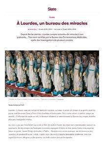 thumbnail of Adrienne Rey, À Lourdes, un bureau des miracles, Slate.fr, 15 août 2018