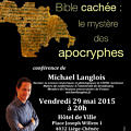Conférence Langlois Apocryphes 29 mai 2015 Liège