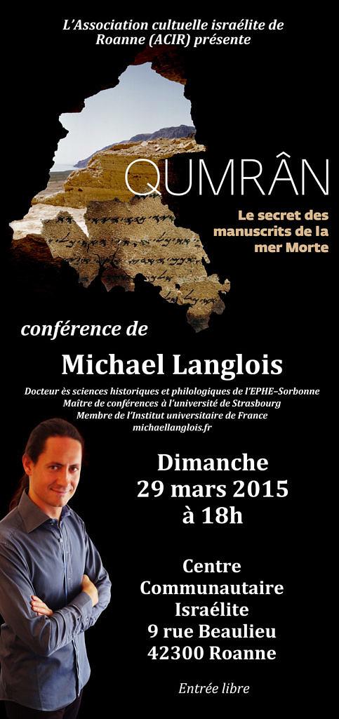 Conférence Qumrân 29 mars 2015 Roanne