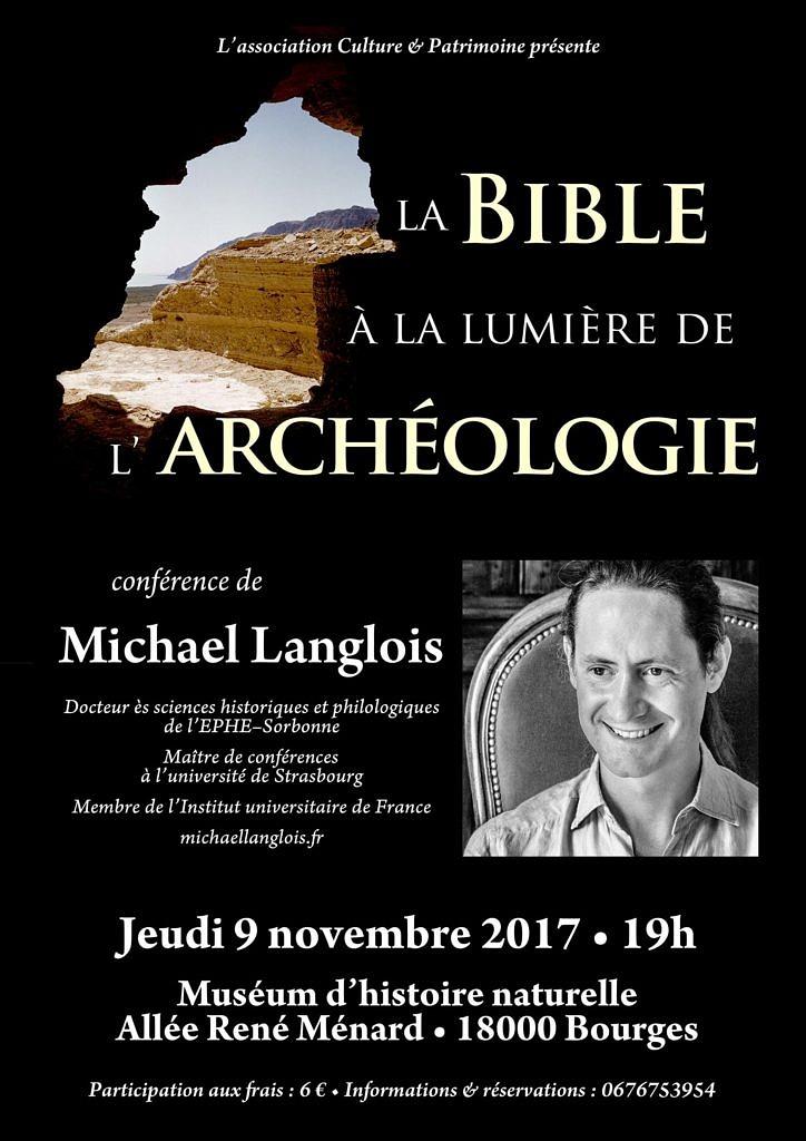 La Bible à la lumière de l'archéologie 9 novembre 2017 Bourges