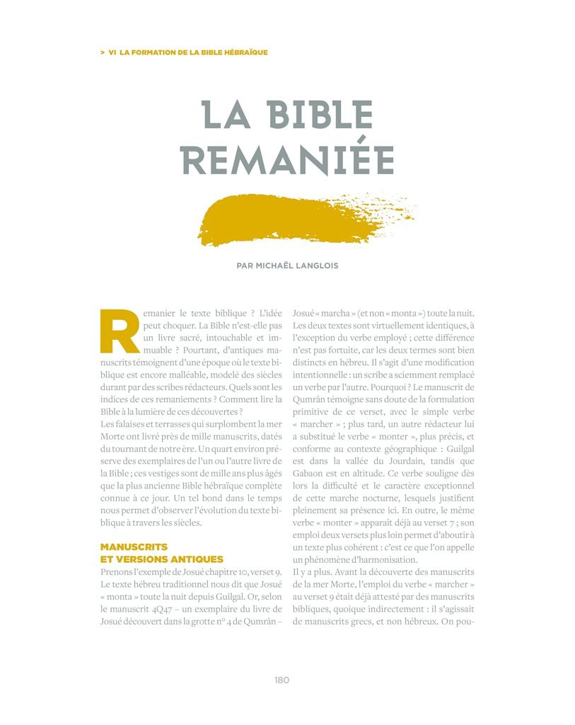 thumbnail of Langlois 2018 La Bible remaniée in La Bible, une encyclopédie contemporaine p180-185