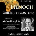 Le livre d'Hénoch, 6 avril 2017 Burbach