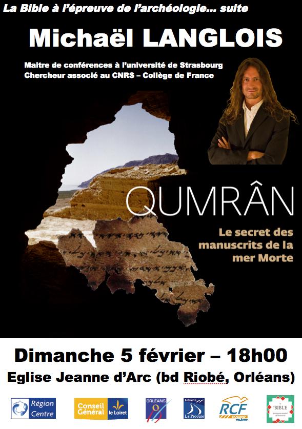 Conférence Qumrân Michael Langlois Orléans 5 février 2012